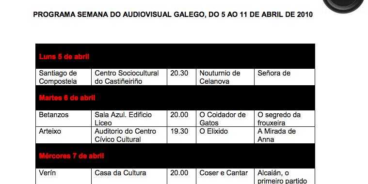 Semana do audiovisual galego